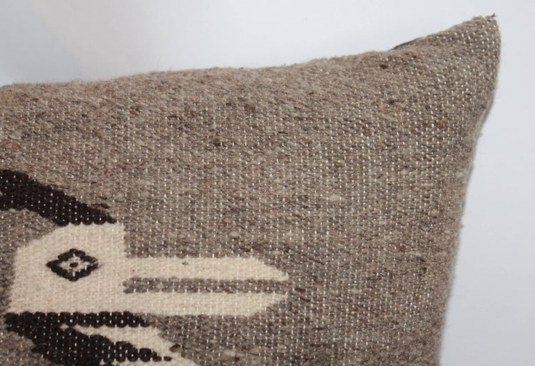 Hand-Woven Indian Weaving Road Runner Pillows For Sale