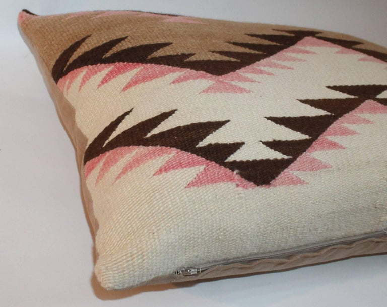 Navajo Indian Weaving Large Bolster Pillow In Excellent Condition For Sale In Los Angeles, CA