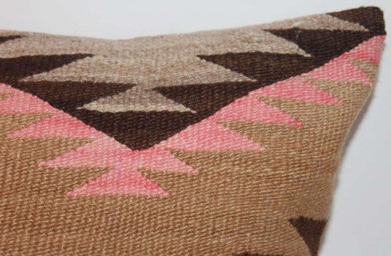 Navajo Indian Weaving Large Bolster Pillow 2
