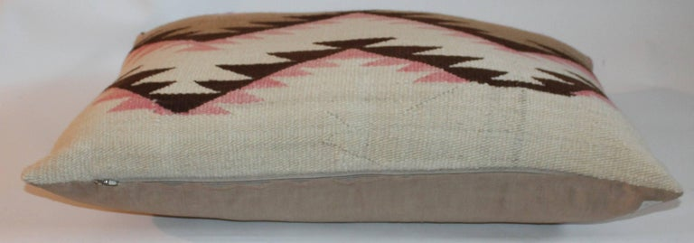 Hand-Woven Navajo Indian Weaving Large Bolster Pillow For Sale
