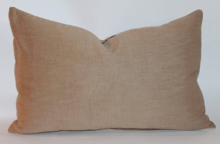 Navajo Indian Weaving Large Bolster Pillow 7