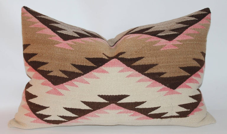Adirondack Navajo Indian Weaving Large Bolster Pillow For Sale