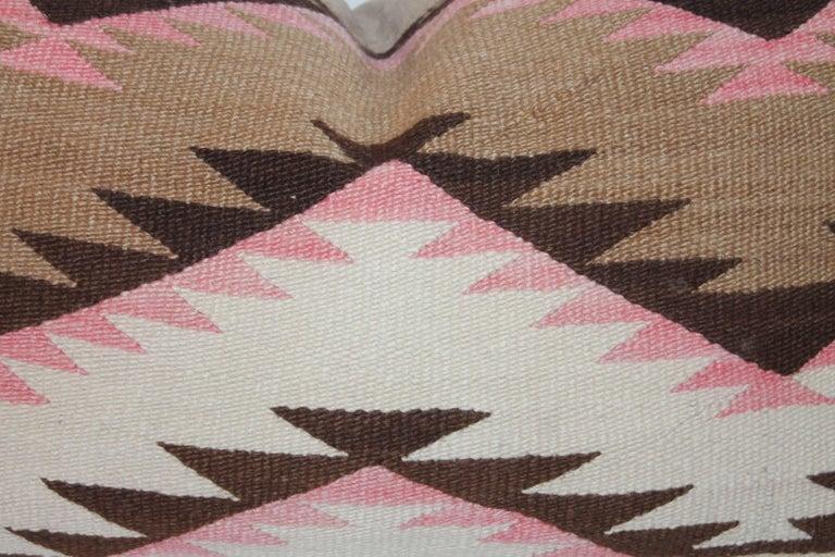 Navajo Indian Weaving Large Bolster Pillow 4