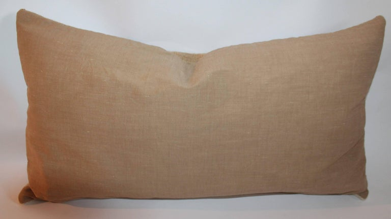 Hand-Woven Navajo Indian Weaving Early Bolster Pillow For Sale