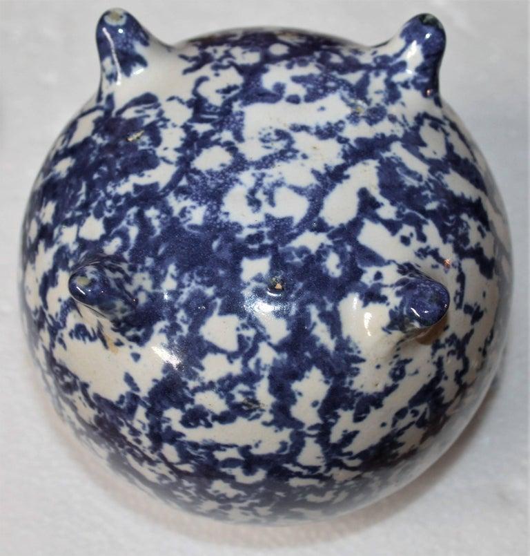 19th Century Miniature Spongeware Pot For Sale 1
