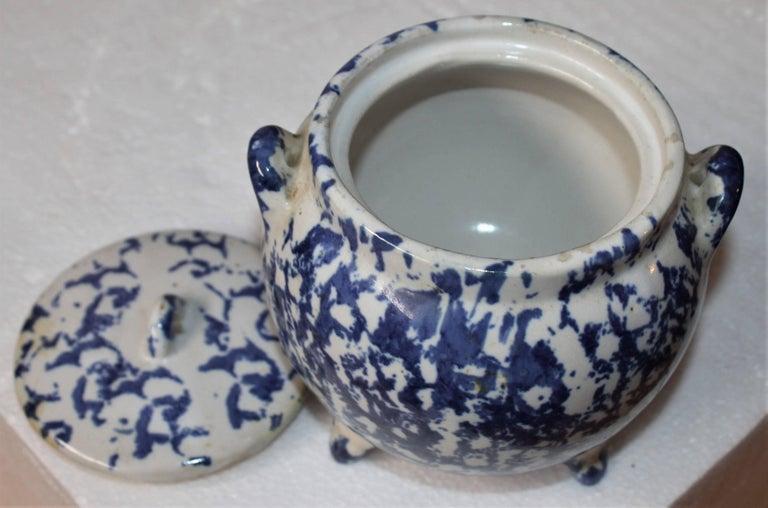 Other 19th Century Miniature Spongeware Pot For Sale