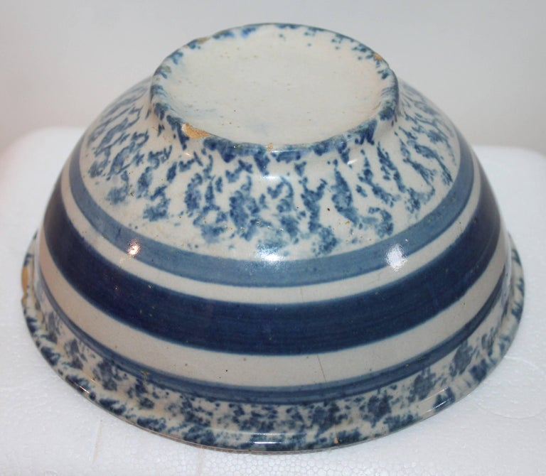 19th Century Spong Ware Bowl In Good Condition For Sale In Los Angeles, CA