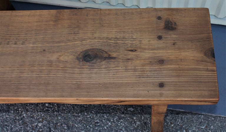 Farm House Amish Made Benches, Pair For Sale 2