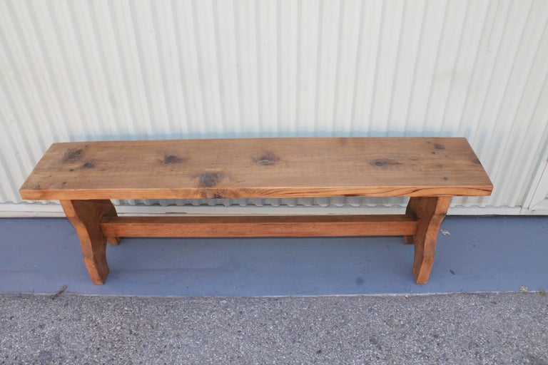 Farm House Amish Made Benches, Pair For Sale 10