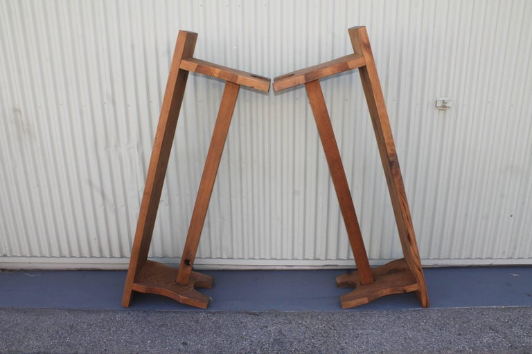 Farm House Amish Made Benches, Pair For Sale 5