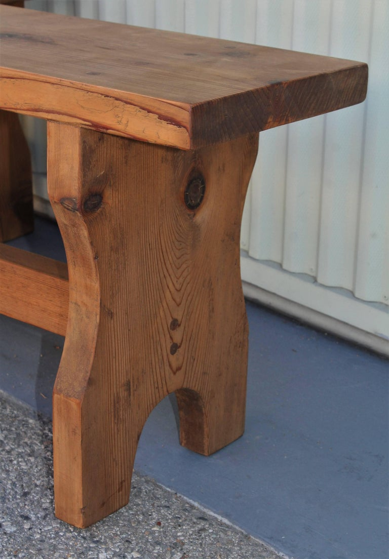 Farm House Amish Made Benches, Pair For Sale 3