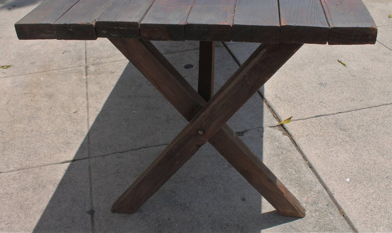 Rustic Picnic Table and Matching Benches For Sale 10