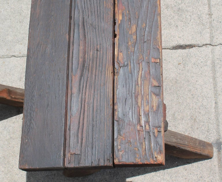 Rustic Picnic Table and Matching Benches For Sale 1