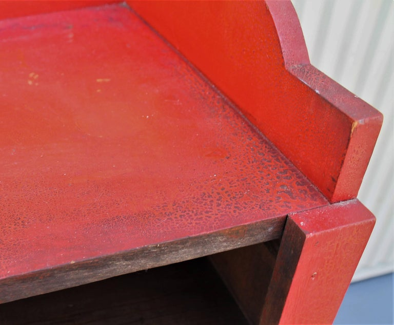 19th Century Original Red Painted Cupboard For Sale 2