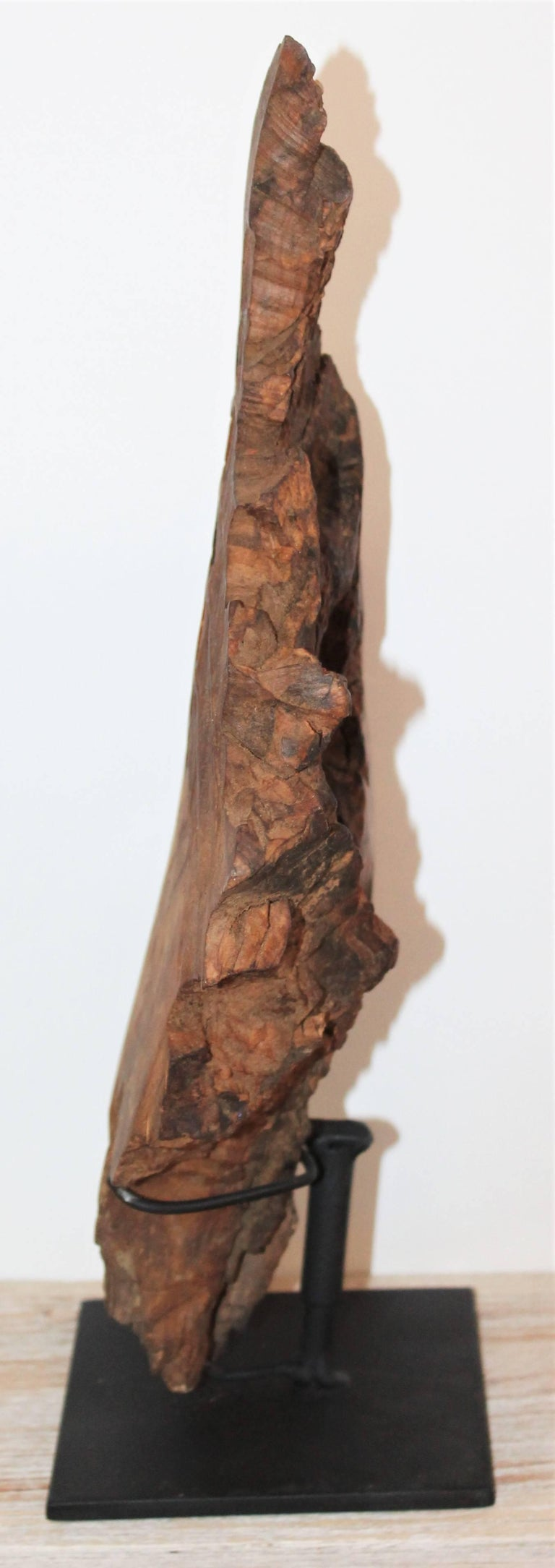 20th Century Hand-Carved Indian Head of Wood For Sale