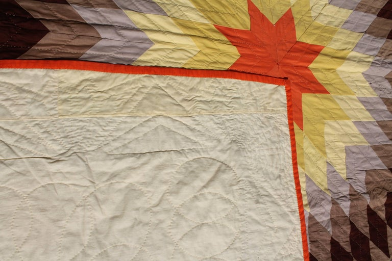 Hand-Crafted 20th Century Western Eight Point Star Quilt For Sale