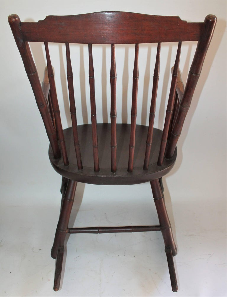 Wood 19th Century Windsor Rocking Chair Original Surface For Sale