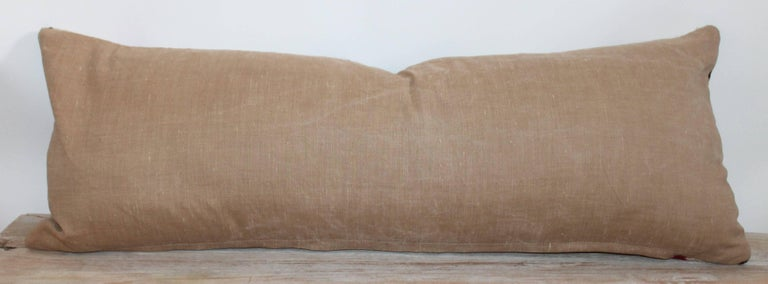 Hand-Woven Early 20th Century Navajo Indian Weaving Bolster Pillow For Sale