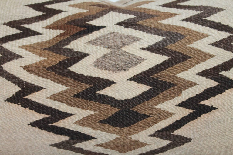 Adirondack Navajo Indian Weaving Geometric Bolster Pillow For Sale