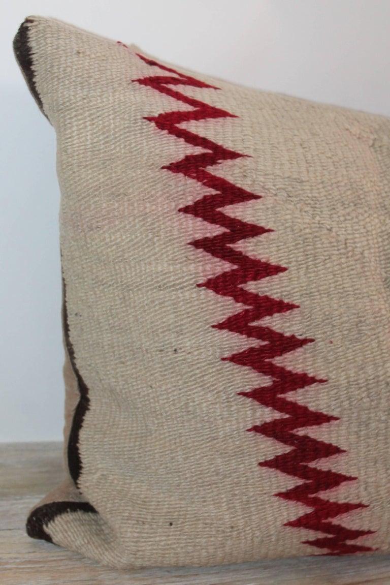 American Navajo Indian Weaving Geometric Bolster Pillow For Sale