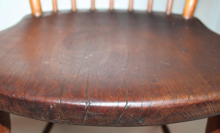 Wood 19th Century Windsor Chair from Pennsylvania For Sale