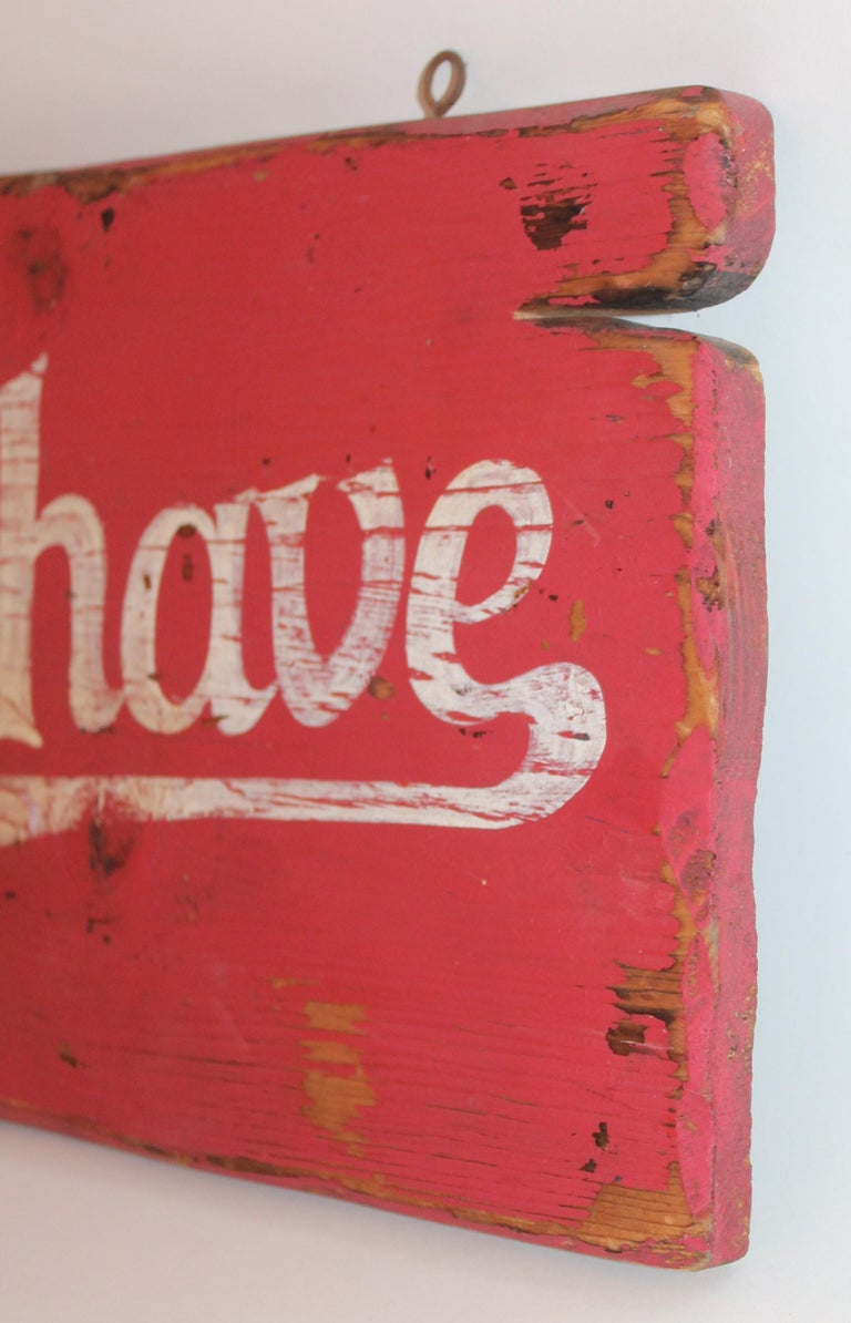 20th Century Burma Shave Trade Sign For Sale