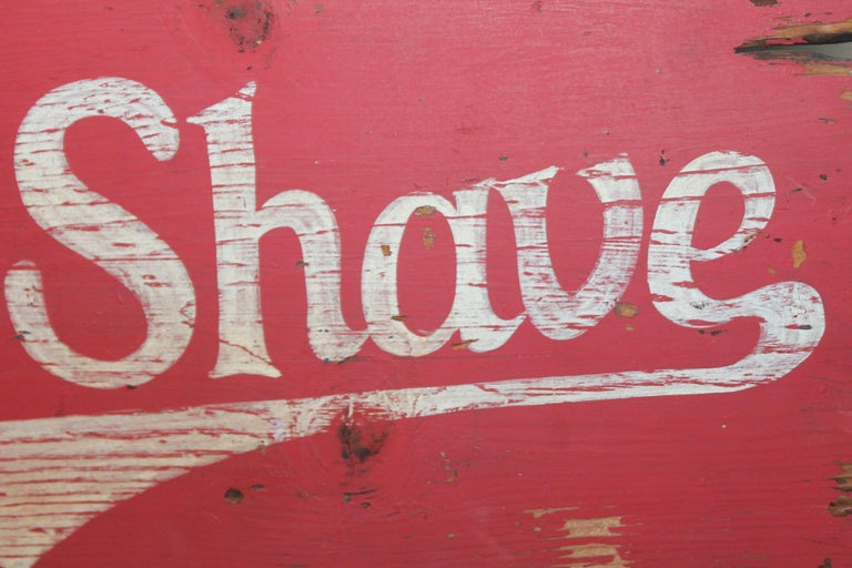 Hand-Painted Burma Shave Trade Sign For Sale