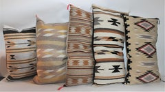 Navajo Indian Weaving Pillows, Collection of Five