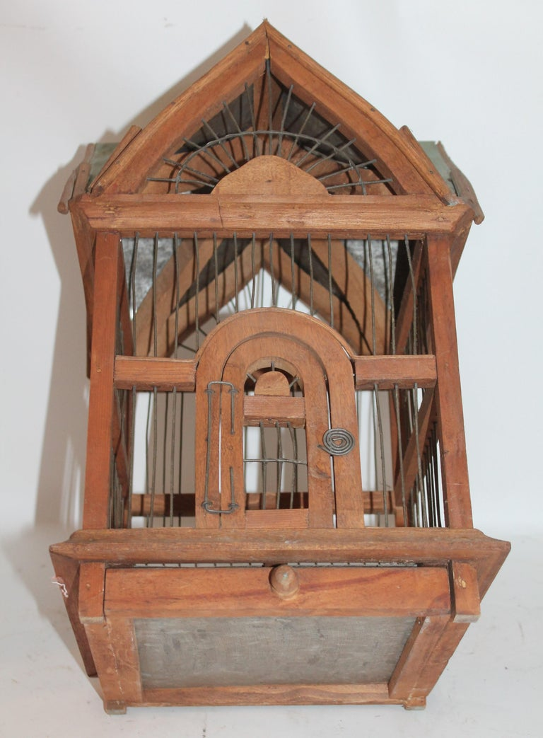 Wood Bird House / Cage For Sale