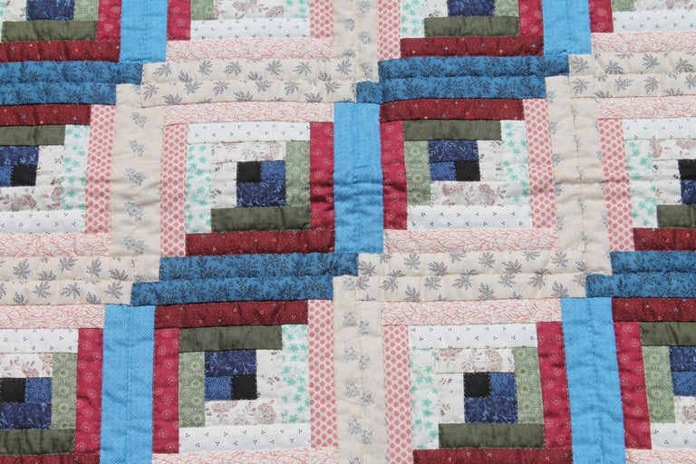 This finely pieced and quilted crib quilt was found in Lancaster County, Pennsylvania and is in pristine condition. The fine calico fabrics are really wonderful. This quilt has never been laundered.