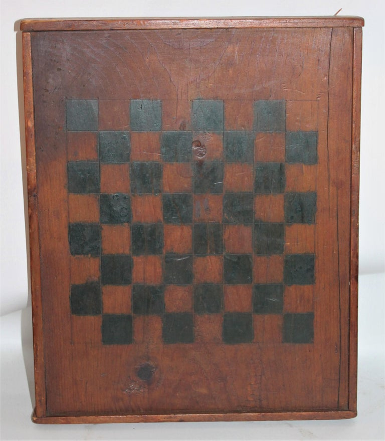 Country 19th Century Original Painted and Signed Gameboard from Pennsylvania For Sale