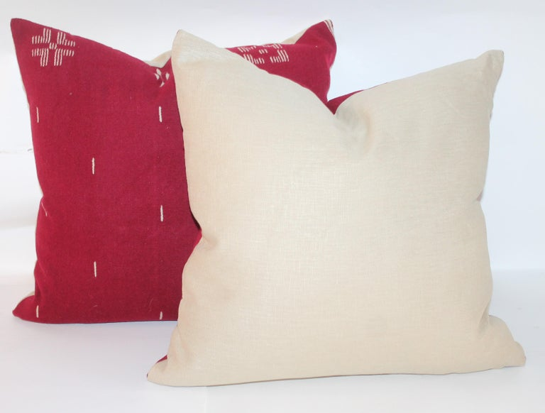 American Tex Coco Mexican Indian Weaving Pillows / Pair For Sale
