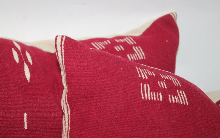 Hand-Woven Tex Coco Mexican Indian Weaving Pillows / Pair For Sale