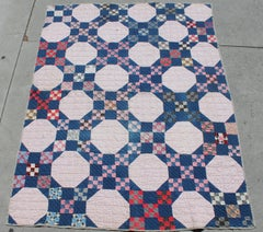19th Century Quilt in Nine Patch Postage Stamp Pattern