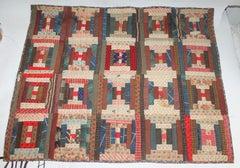 Antique Crib Quilt - Long Cabin Pattern
