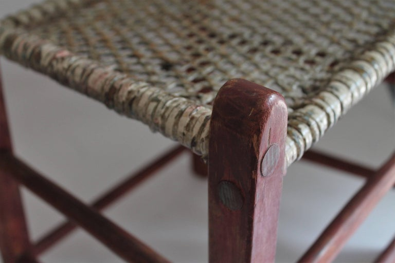 19th Century Folky Canadian  Ladder Back Chairs/Set of Four For Sale 2