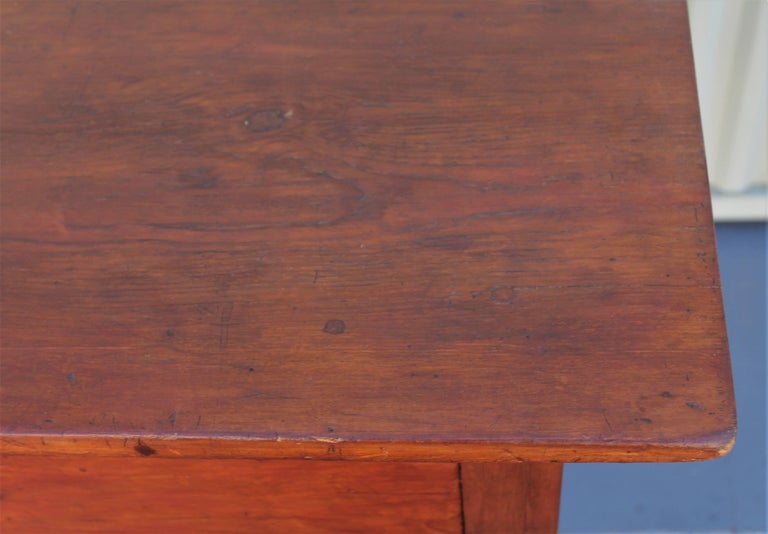 19th Century Work Table with Original Red Painted Wash For Sale 2
