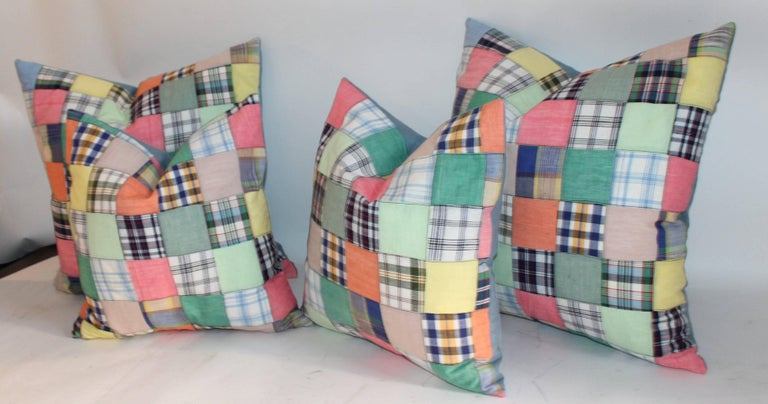 Other Quilt Patch Pillows / Collection of Four For Sale