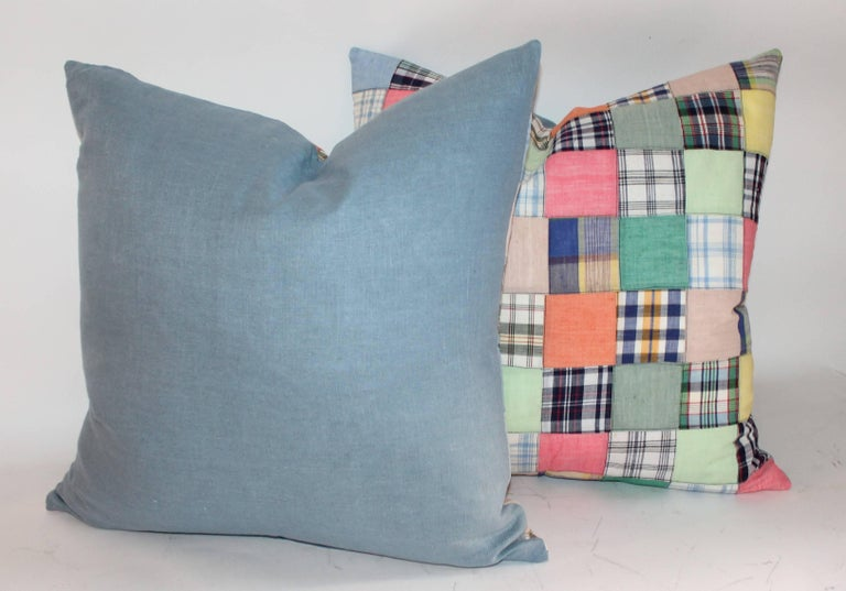 Quilt Patch Pillows / Collection of Four For Sale 2