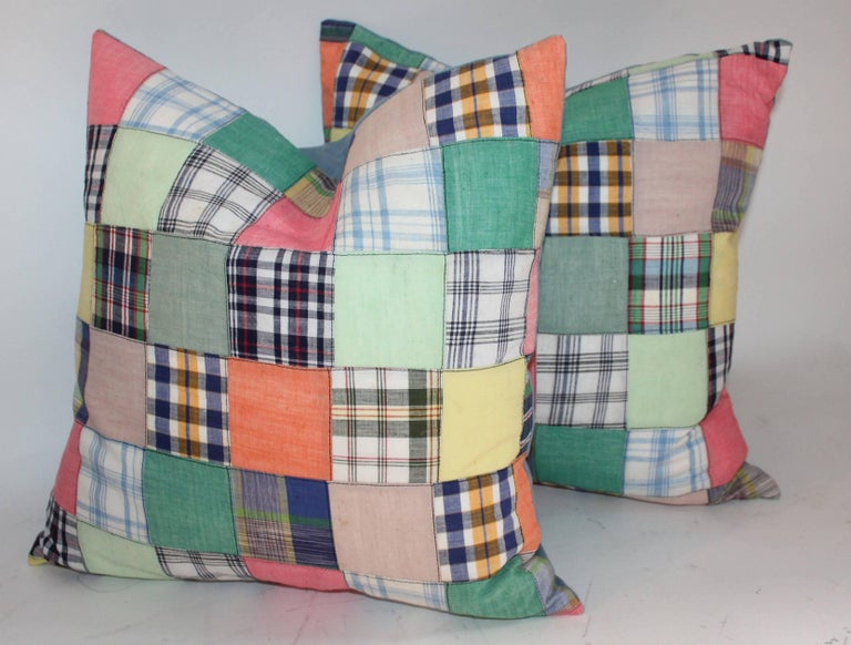 Quilt Patch Pillows / Collection of Four In Excellent Condition For Sale In Los Angeles, CA