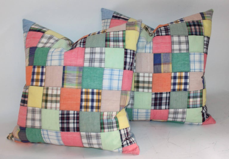 Hand-Crafted Quilt Patch Pillows / Collection of Four For Sale