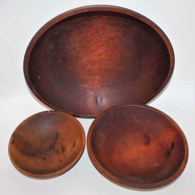 Other Collection of 19th Century Wooden Bowls For Sale