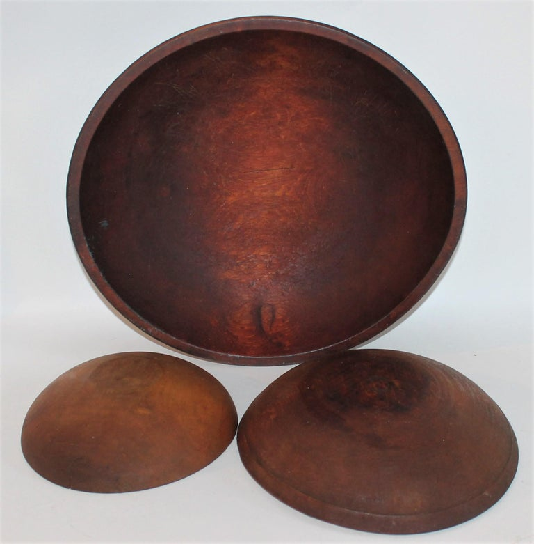American Collection of 19th Century Wooden Bowls For Sale