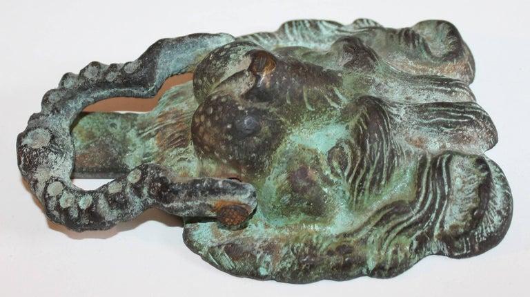 19th Century Lion Door Knocker in Bronze For Sale 1
