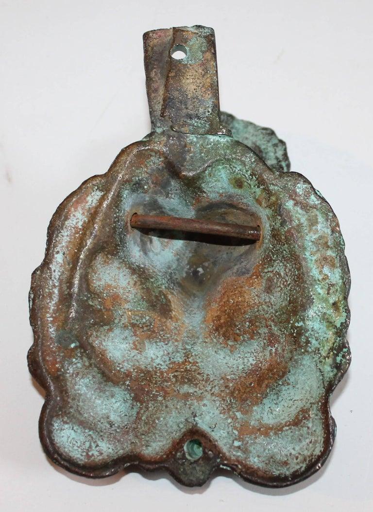 19th Century Lion Door Knocker in Bronze For Sale 3