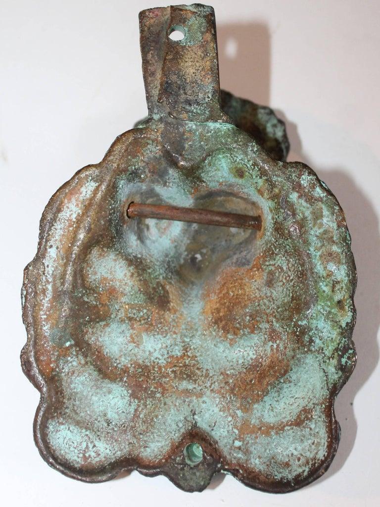 19th Century Lion Door Knocker in Bronze For Sale 4