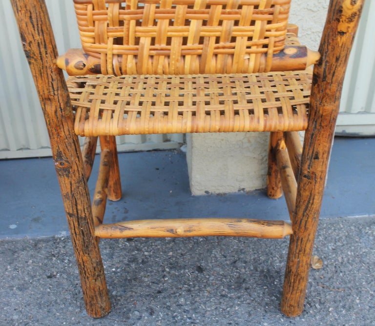 American Old Hickory Camp Chairs or Set of Six For Sale