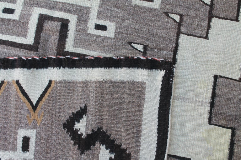Two Grey Hills Navajo Indian Weaving For Sale 1