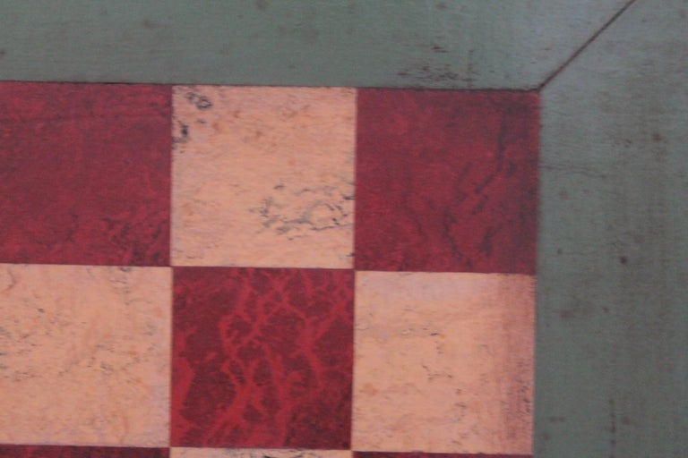 Folk Art Gameboard Early 20th Century Original Paint For Sale