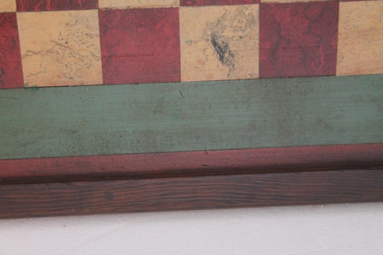 Hand-Crafted Gameboard Early 20th Century Original Paint For Sale